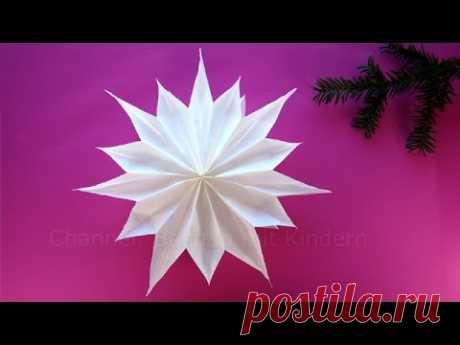 Sterne basteln mit Papier-Butterbrottüten - Weihnachtssterne - Weihnachtsdeko - DIY Weihnachten