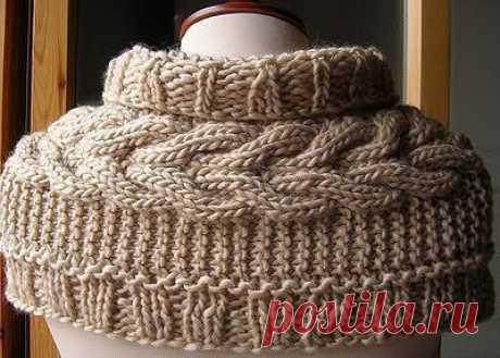 Очень красивый шарф / Вязание как искусство!