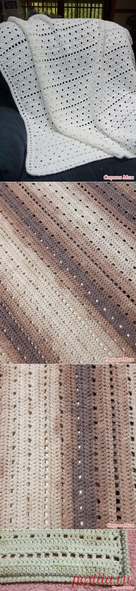 """Накидка на диван """"Капучино"""" крючком - Вязание - Страна Мам"""