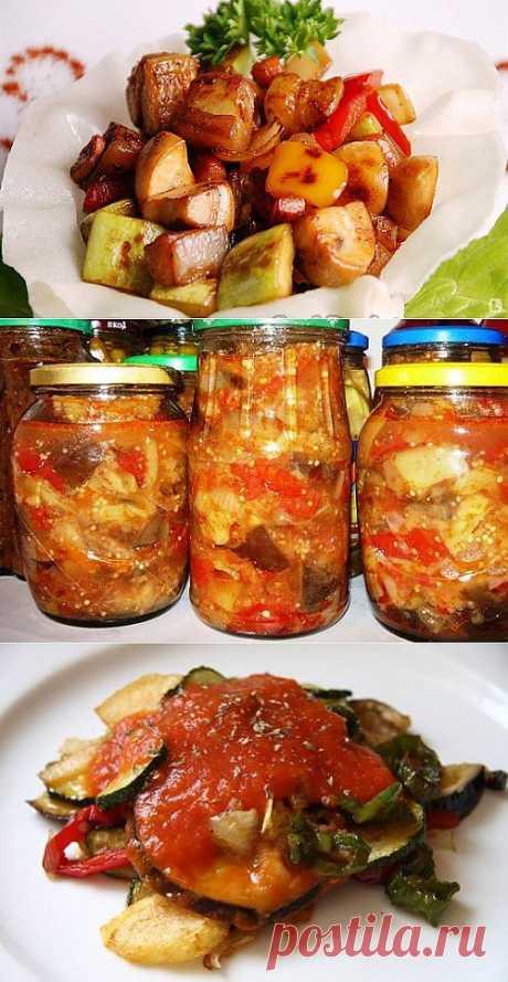 Традиции заготовок: овощные соте на зиму / Простые рецепты