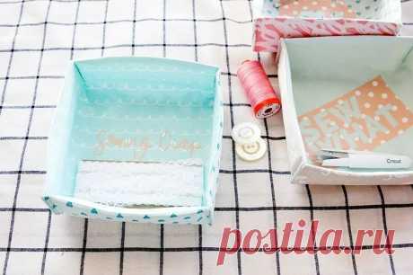 Как сшить текстильную коробку из ткани: мастер-класс + шаблон — Мастер-классы на BurdaStyle.ru