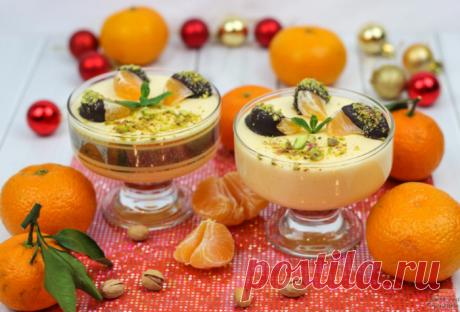 Новогодний мандариновый десерт за полчаса » Женский Мир