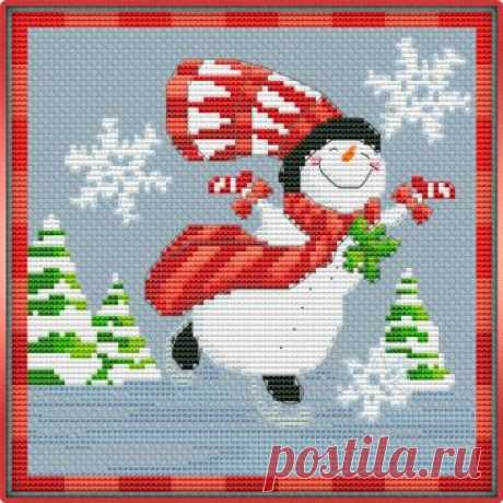 #Новый_год_и_Рождество@clubrucodelnic  #Детское@clubrucodelnic Skating snowman / Катание снеговика на коньках  Схема  Жмите на картинку