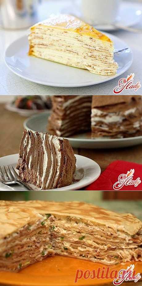 Необычные рецепты блинных тортов.
