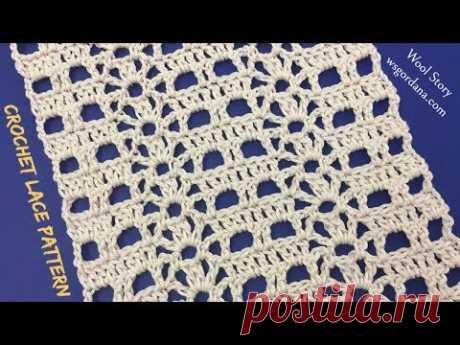DIY Tutorial Crochet Easy Lace Pattern (Čipkana mustra)