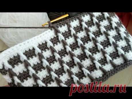 Amazing Easy 3D Crochet Knitting Pattern -  Tığ işi bu modele bayılacaksınız