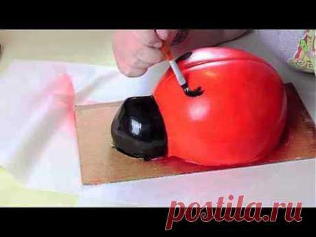 Как Сделать Безумно Привлекательный Торт БОЖЬЯ КОРОВКА! Просто Милашка! - YouTube