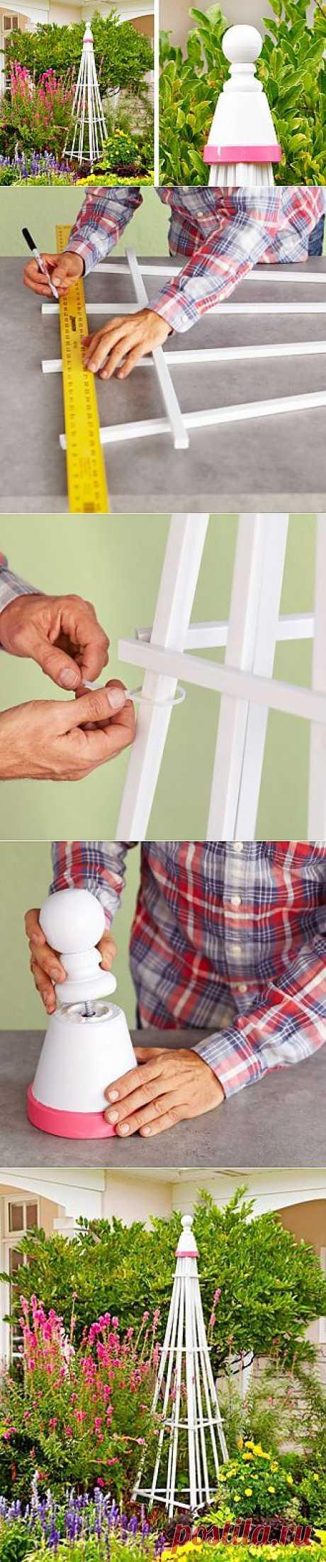 Как создать простой решетчатый сад своими руками.  InfoHome.com.ua