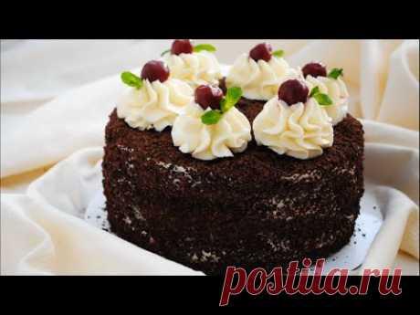 Торт «ПЬЯНАЯ ВИШНЯ» 🍒🍰 Рецепт простого и вкусного торта 🍰🍒 - YouTube