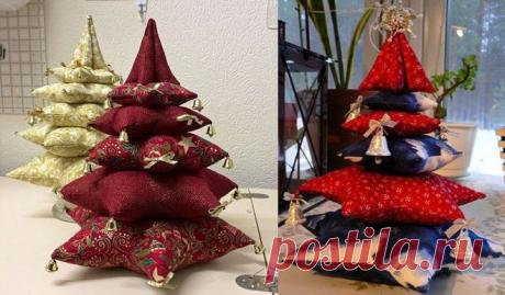 Подушки декоративные - Елочки! Оформите свой интерьер в праздничном стиле!Идеи декора!   Юлия Жданова   Яндекс Дзен