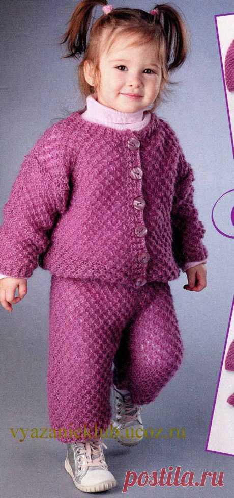 Кофта и штанишки для девочки 1 одного года - Для детей до 3 лет - Каталог файлов - Вязание для детей
