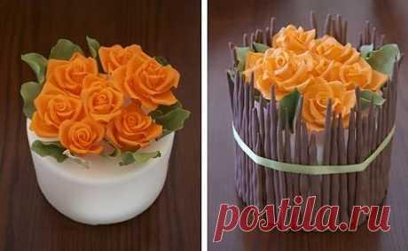 Розы для торта ..