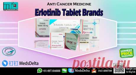Order online Erlotinib Tablet Brands from MedsDelta at discounted prices. MedsDelta aims at providing you cancer medicine manufactured by different manufacturer includes Natco, Cipla, Glenmark, Sun, Intas, Hetero. Buy now Erlonat, Erlocip, Erleva, Erlotero, Zyceva Call/WhatsApp: +91–9971646666, QQ: 3451266709 at MedsDelta Trusted supplier and exporter. We are the most prominent wholesaler and supplier of the Erlotinib 100mg/150mg Tablets across many countries including Austria, Bahrain,