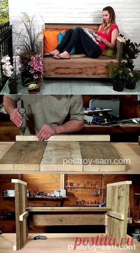Как сделать скамейку из досок?