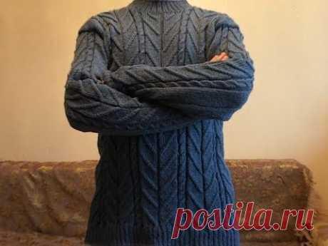 Пуловер мужской на машинке. Описание и советы