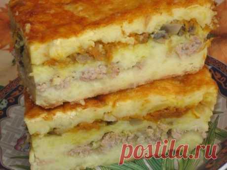 Слоеная картофельная запеканка — Sloosh – кулинарные рецепты