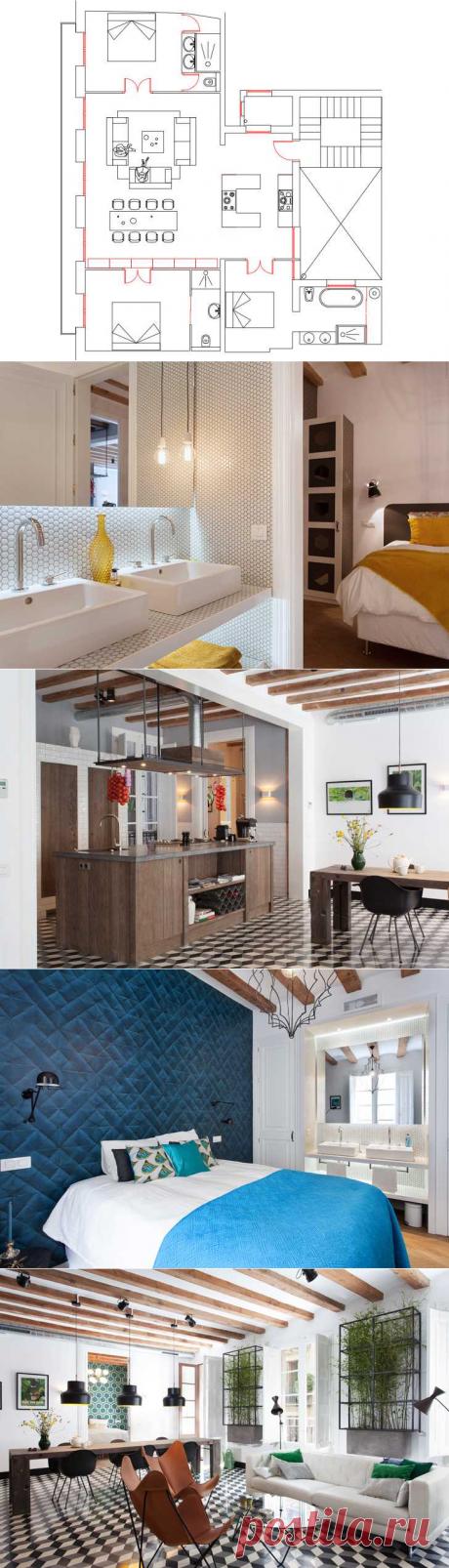 〚 Квартира в бывшем общежитии в Барселоне 〛 ◾ Фото ◾Идеи◾ Дизайн