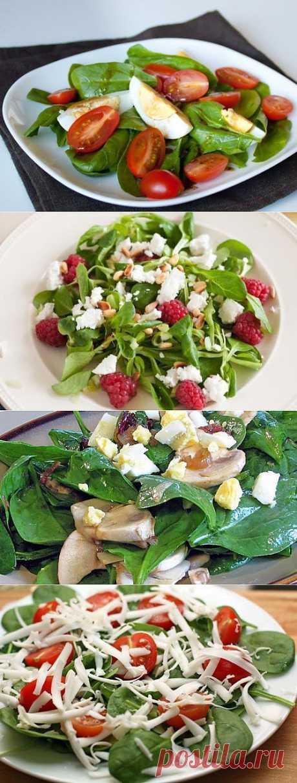 Питаемся вкусно и легко: салаты со шпинатом / Простые рецепты