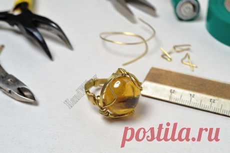 Властелин колец, или Как создать перстень из одного цельного куска проволоки   Журнал Ярмарки Мастеров