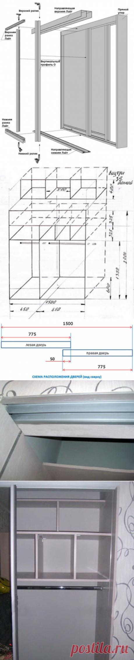 Как собрать встроенный шкаф купе своими руками – инструкция с фото и чертежами