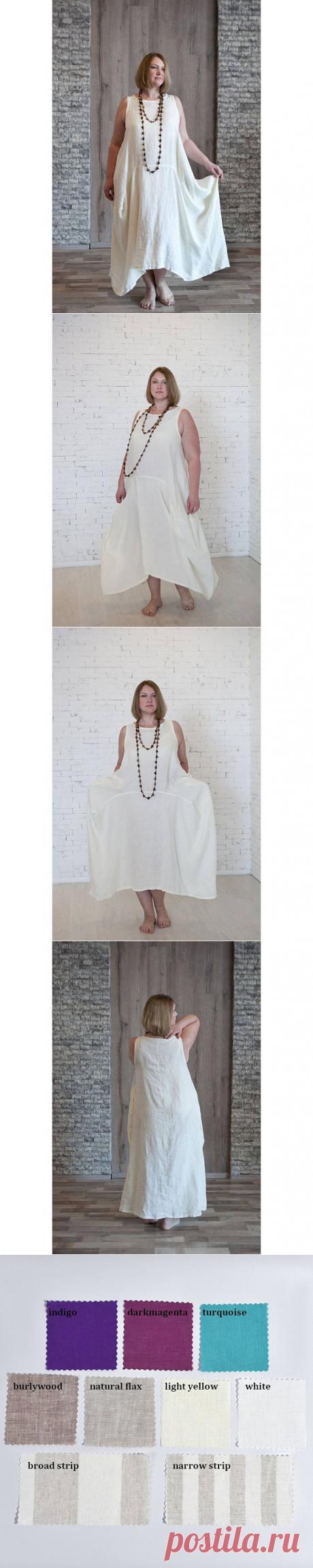 Linen dress without sleevesLinen summer dress