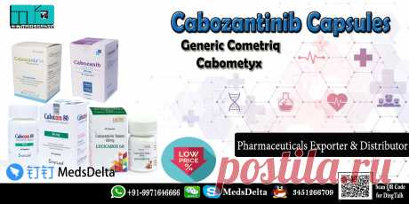 Cabozantinib Capsules Brands online available at MedsDelta Trusted medicine supplier providing life saving products at wholesale price. Call/WhatsApp: +91–9971646666, QQ: 345126670 for get detailed information about the Generic Cabometyx & Cometriq Cabozantinib Capsules Brands Online including Cabozanix Beacon, Caboxen Everest, Cabozanib Julphar, Lucicaboz Lucius and Cabotini Myanmar. MedsDelta supplies all generic and branded cancer medicine to countries worldwide.
