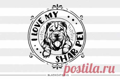 I love my Shar Pei -  SVG file Cutting File Clipart in Svg, Eps, Dxf, Png for Cricut & Silhouette I love my Shar Pei - SVG file This is not a vinyl, the file contains only digital files, and no material items will be shipped. This is a digital download of a word art vinyl decal cutting file, which can be imported to a number of paper crafting programs like Cricut Explore, Silhouette and some other cutting machines.