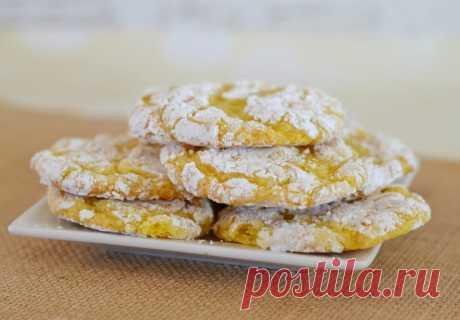 Обалденное лимонное мраморное печенье: облачко из духовки