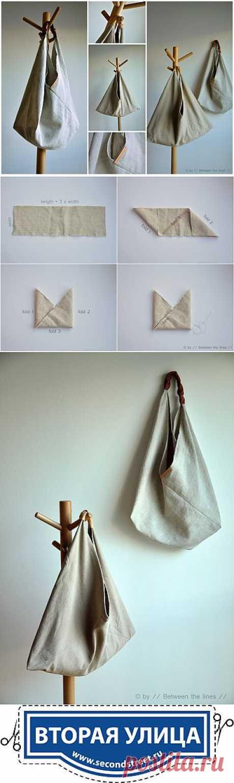 Простая выкройка интересной сумки / Сумки, клатчи, чемоданы /