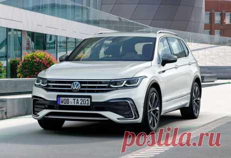 Volkswagen Tiguan Allspace 2022: обновленный трехрядный Тигуан