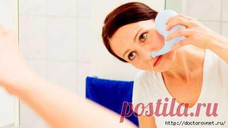 Como lavar correctamente la nariz