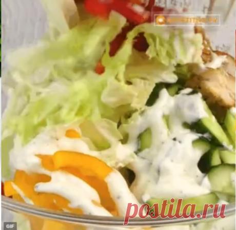 Легкий салат на новый год! Забираю в свое меню😋😉