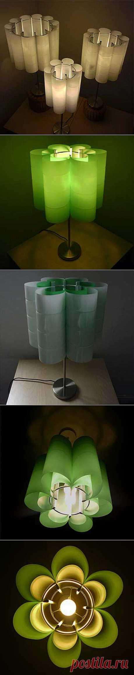 Светильники из пластиковых бутылок.