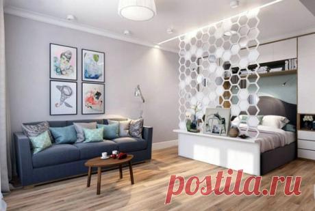 Как совместить гостиную и спальню, если места совсем мало | flqu.ru - квартирный вопрос. Блог о дизайне, ремонте