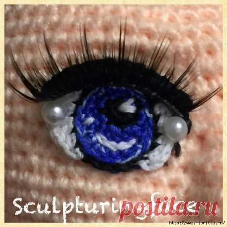 knitted eyes for knitted toys