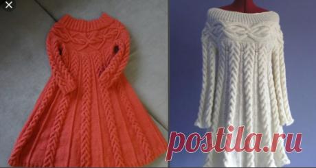 Вязание. Вязаные платья спицами. Идеи. Модные красивые платья   Вязание Тайны Александры Годиной   Яндекс Дзен