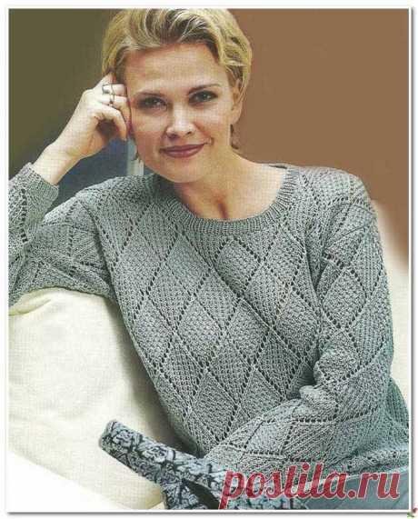 Элегантный серый..., правильный узор, и на вас самый стильный джемпер! Хорошая подборка для вязания. | Asha. Вязание и дизайн.🌶 | Яндекс Дзен