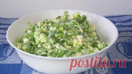 На кухне: Салат с черемшой