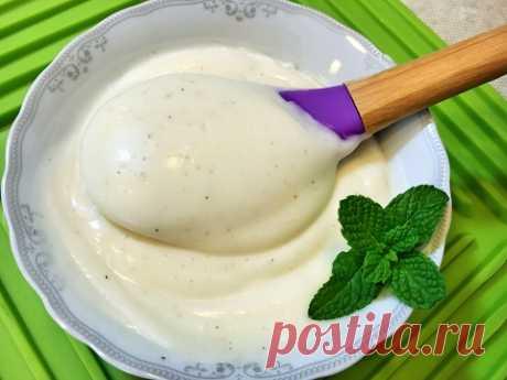 МАЙОНЕЗ ПОСТНЫЙ ( без яиц, уксуса и молока)  Homemade mayonnaise (without eggs, vinegar and milk)