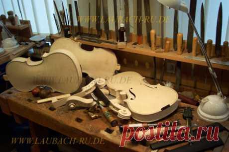 Купить мастеровые сольные и концертные скрипки из мастерской Лаубах в Германии