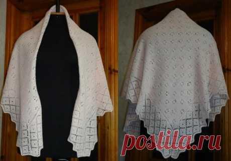 Пуховый платок схема вязания спицами: 9 моделей с описанием и видео мк для начинающих
