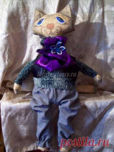 Грунтованная текстильная кукла. Леопольд. Мастер-класс
