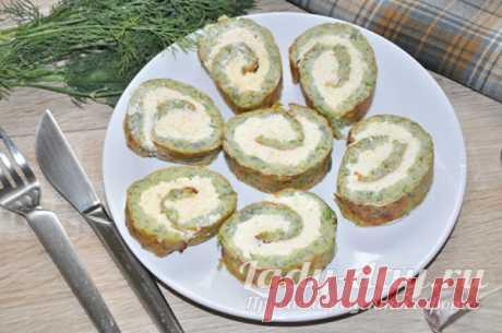 Рулет из кабачков с сыром и чесноком в духовке: рецепт с фото пошагово   Простые рецепты с фото