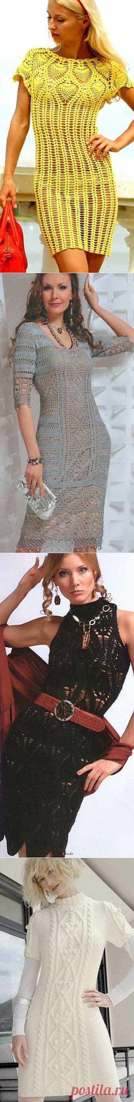 Вязаные платья.