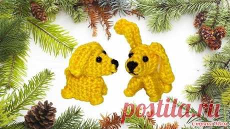 . Самая простая собачка (видео МК для деток и начинающих) Всем привет! Сегодня я расскажу и покажу как связать простую желтую собачку крючком. Это видео для умеющих вязать может показаться скучноватым и затянутым.