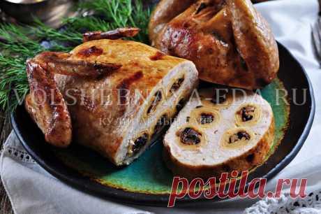Курица, фаршированная блинами, пошаговый рецепт с фото | Волшебная Eда.ру