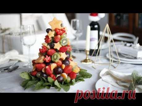 DIY CHRISTMAS FRUIT TREE | HOW TO MAKE EDIBLE FRUIT ARRANGEMENT