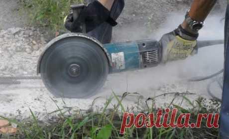 Как пилить болгаркой без пыли и риска получить бронхиальную астму?