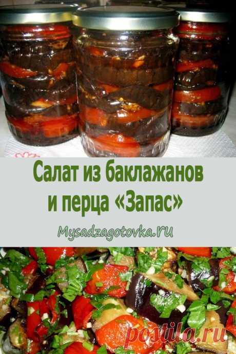 Салат из баклажанов и перца «Запас» - Мой сад