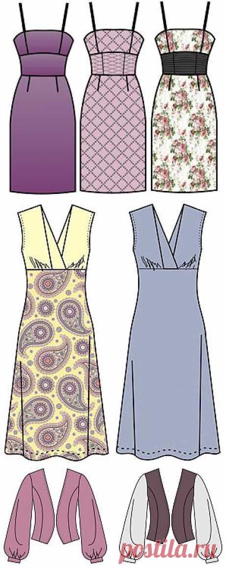Выкройки - Бесплатные выкройки для шитья одежды. Porrivan